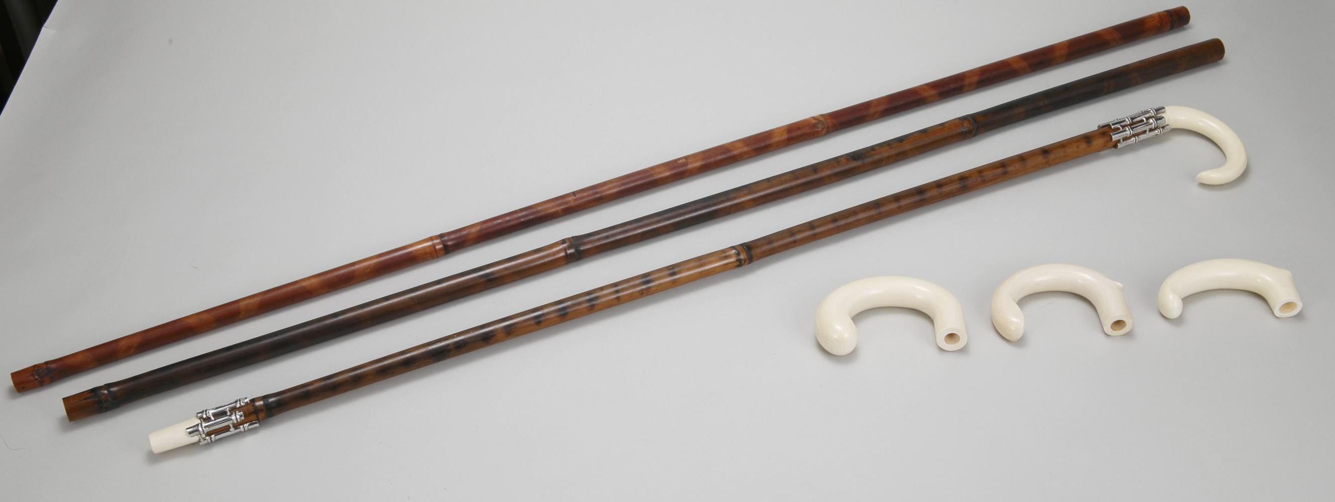 本煤竹(すすたけ)ステッキ・セパレート型