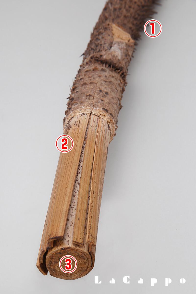 三種構造の籐