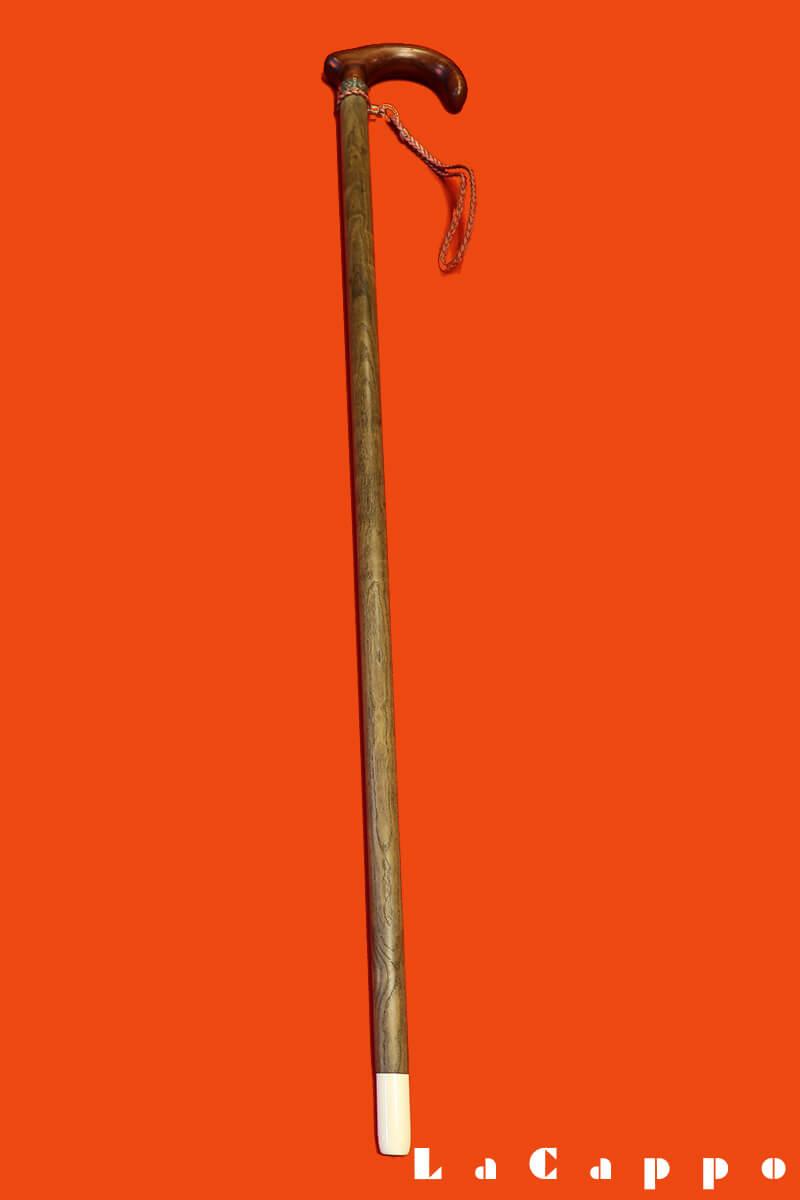 特注品セパレート型ステッキ(ローズウッド、神代タモ、銀、象牙)