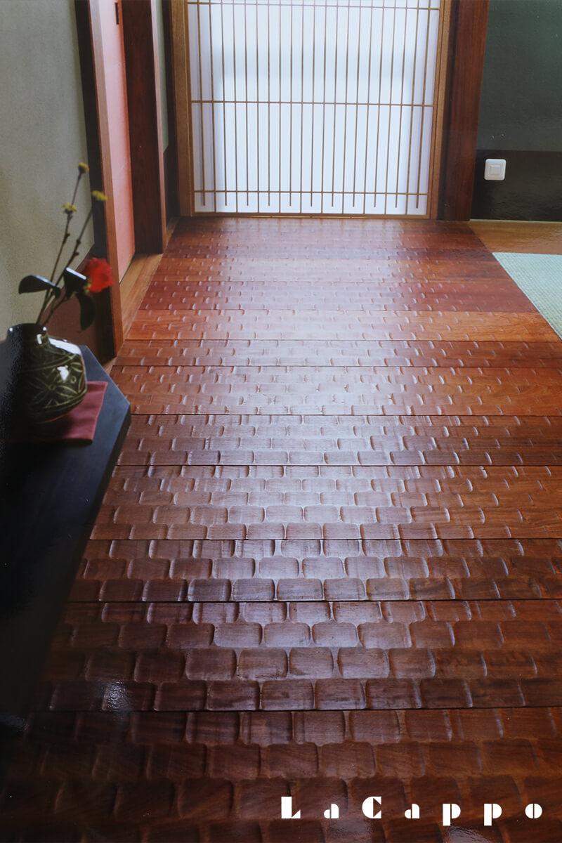 名栗加工を施した板畳