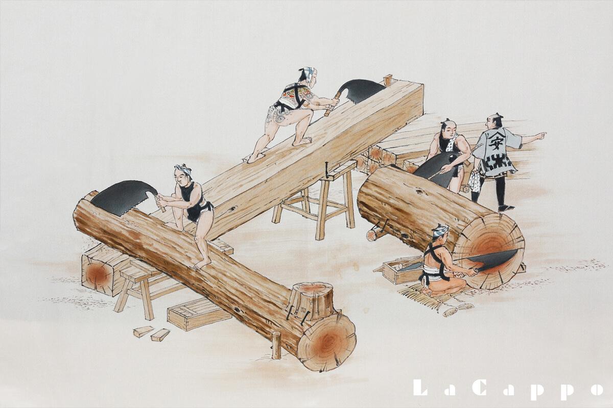 江戸時代の挽き方