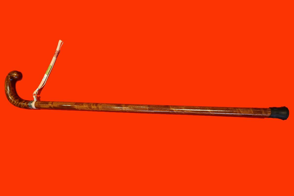 特注品セパレート型ステッキ(ケヤキ、本花梨、銀、ゴム)