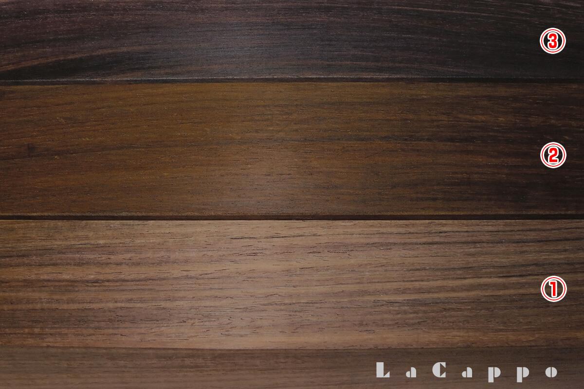 インドローズウッドの柾目