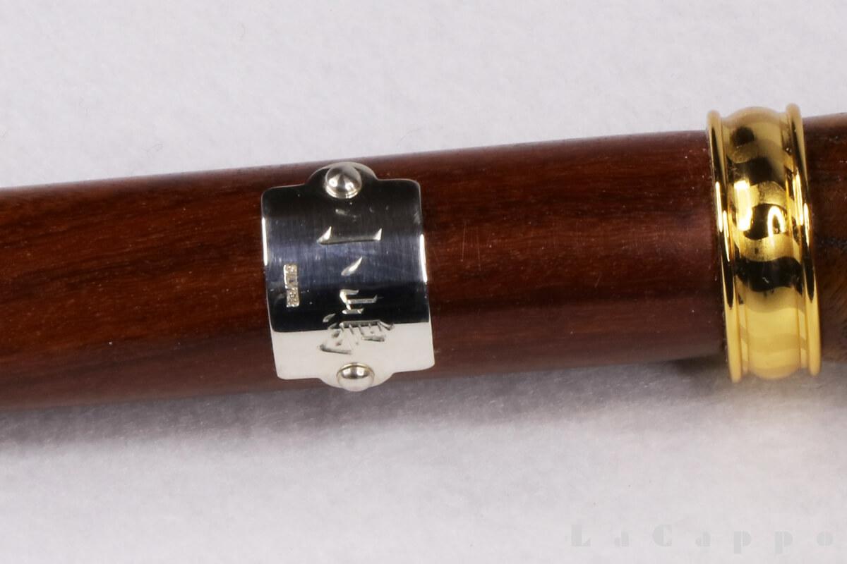 御蔵島産桑の虎目杢、西アフリカ産パオ・ローズを用いたフルオーダーセパレート型ステッキ