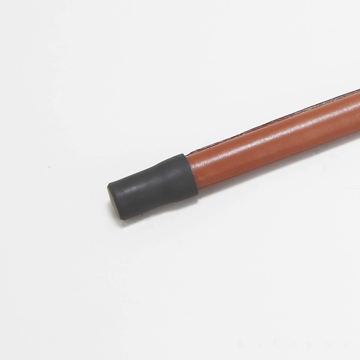 秋冬商品No10:紳士用ステッキ(牛革大曲り・ランプブラック・マロンブラウン・職人の手縫製品・イタリア革)