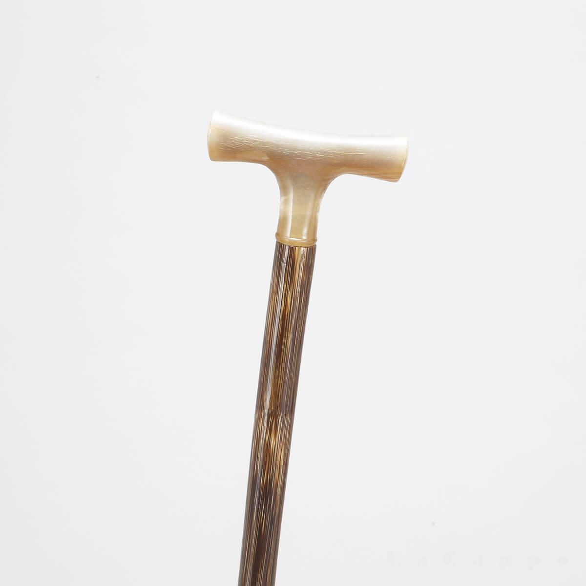 フルシーズン商品No6:男女兼用ステッキ(オランダ水牛・檳榔樹(びんろうじゅ)・黒水牛)