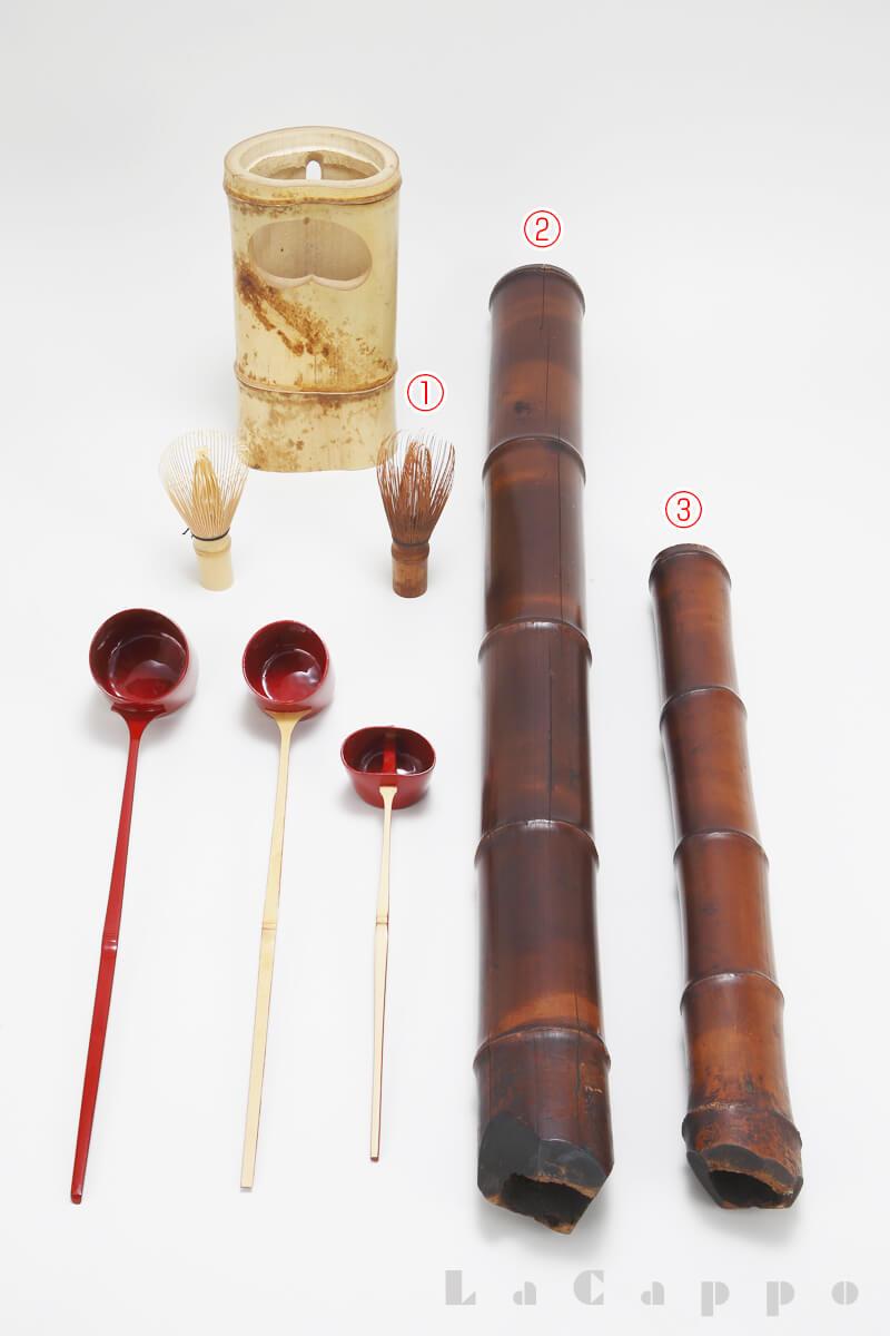 茶道具に使われる竹類
