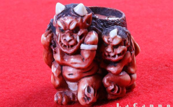 鬼神・護符・地獄絵図・象牙の根付(ねつけ)